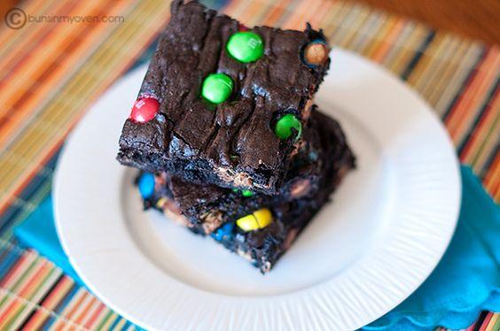 Peanutbutter M brownies