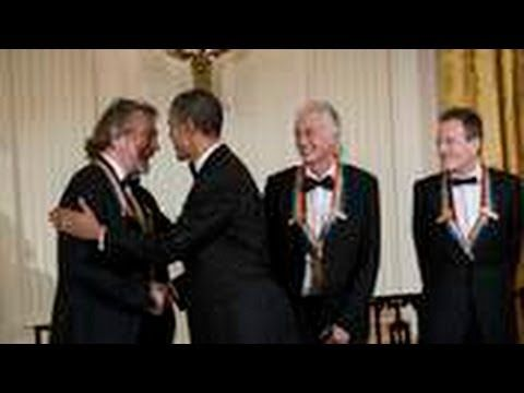 Led Zeppelin Receive Award From Obama