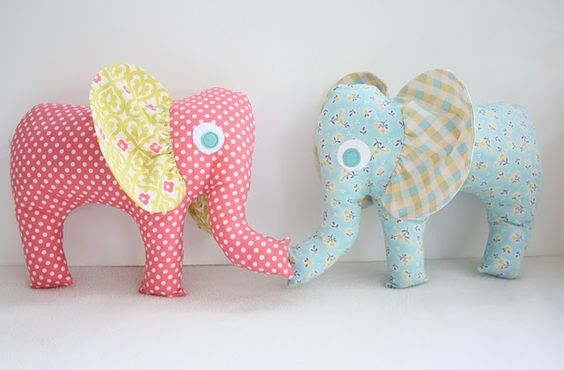 Easy Elephant Stuffies...Free pattern
