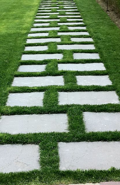 Stone and grass walkway outdoor retreat pinterest for Stone path in grass