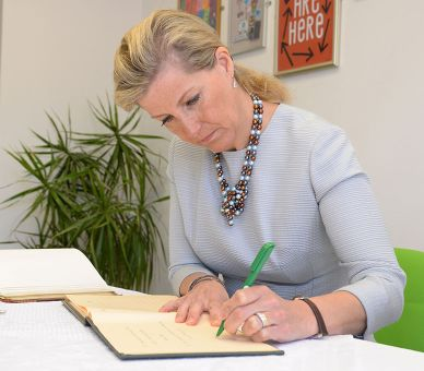 The Countess of Wessex opens a new service centre for the NSPCC in Staffordshire, April 2014