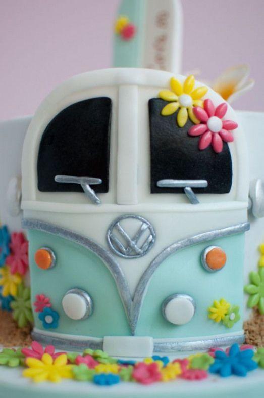 Hippie Surf Cake Volkswagen Volkswagen Cake Surf Cake Surfer Cake Cake