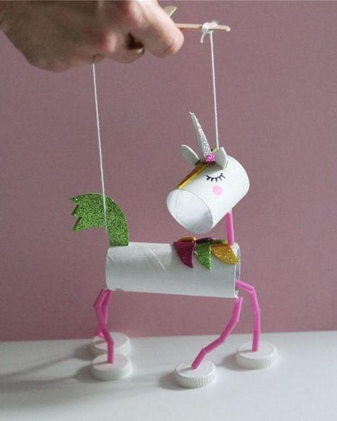 marionetas con rollos de papel higiénico