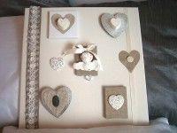 3D Deco frame heart and cherubs
