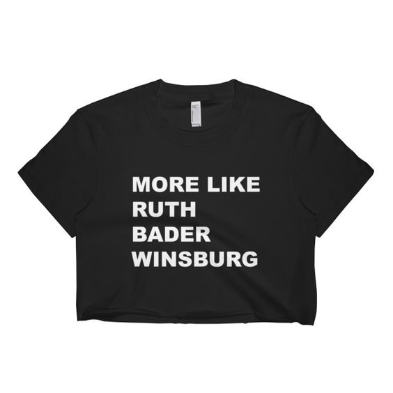 Ruth Bader Winsburg Black Crop Top