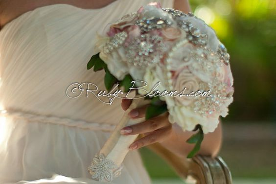 Brooch Bouquet Broach Bouquet Morning Champagne by Rubybloomscom