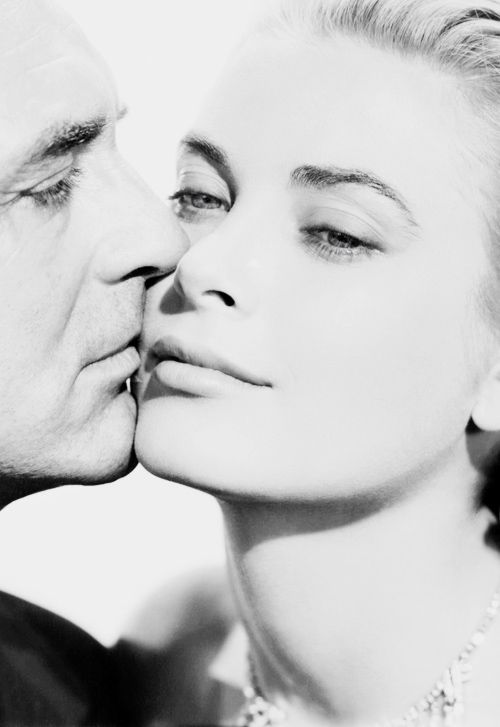 Grace Kelly and Cary Grant in Alfred Hitchcock's 'To Catch a Thief', 1954.: