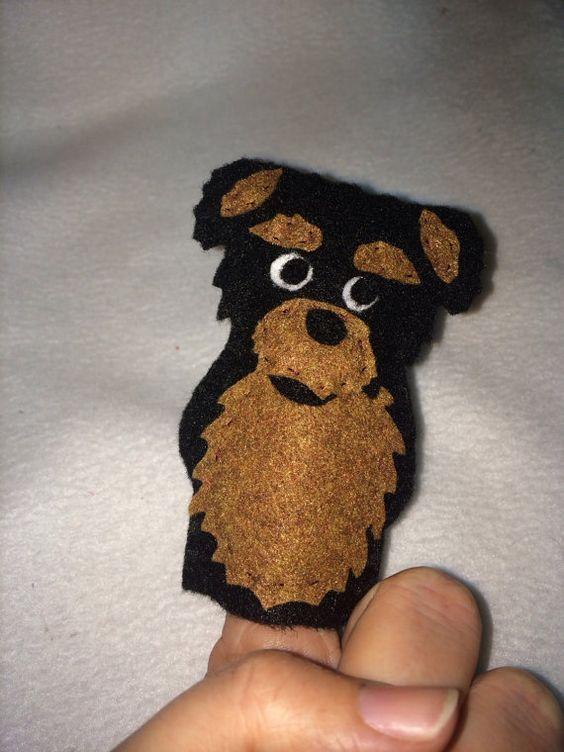 Marioneta del dedo de Yorkshire Terrier por HeartFeltCraft1 en Etsy