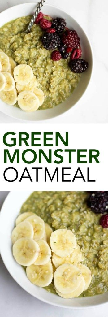 Green monsters, Monsters and Oatmeal on Pinterest