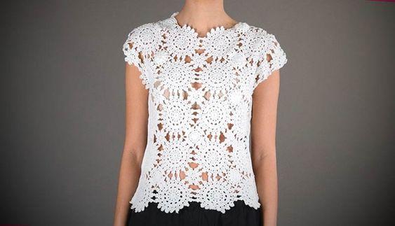 Confira de seguida vários modelos de blusas de croché na nossa galeria de fotos, e inspire-se para compor um look lindo e fantástico.CLIQUE AQUI