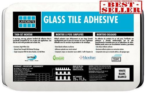 Laticrete Glass Tile Adhesive Mortar 25 Pound White Adhesive