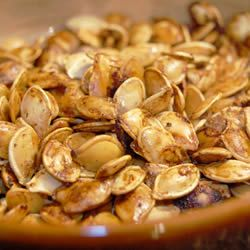 Gluten Free Pumpkin Seeds: 1 1/2 Tbs. margarine (I use butter), melted, 1/2 tsp. salt, 1/8 tsp garlic salt, 2 tsp. Worcestershire sauce, 2 C raw whole pumpkin seeds. Mix all together and Bake 1 hr. @ 275 degrees.: Degrees Pumpkin, Yummmm Pumpkin, Food Gluten, Food Network/Trisha, Babelicious Pumpkin, Appetizer, Free Pumpkin, Dessert