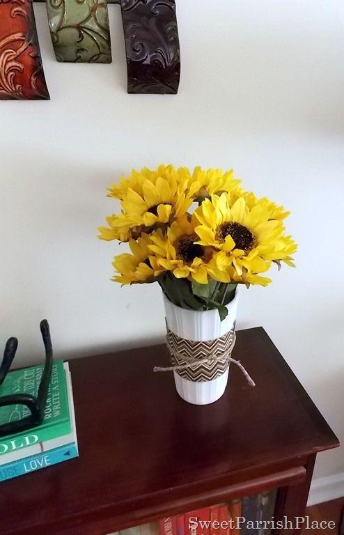Diy sunflower arrangement for fall monday hop