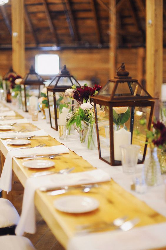 Rustic vintage and elegant wedding ideas long table
