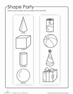 Printables 3d Shapes Worksheets For Kindergarten geometric shapes shape and 3d on pinterest worksheet