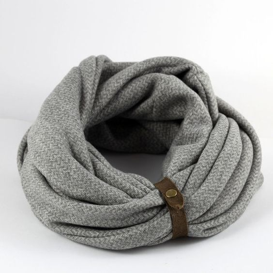 Mens Infinity Scarf, Gift for Him unique gifts for women or men The Scarf With The Band WARM AND COZY SCARF Winter is here and it is time to switch to a