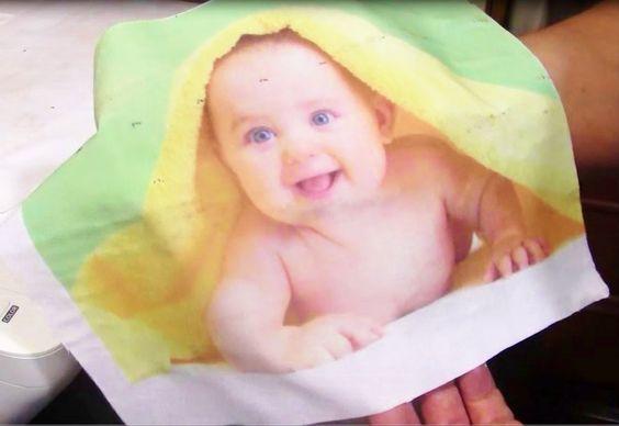 transferir a tela solo con cola y agua pegar tela sobre folio y meter enla impresora