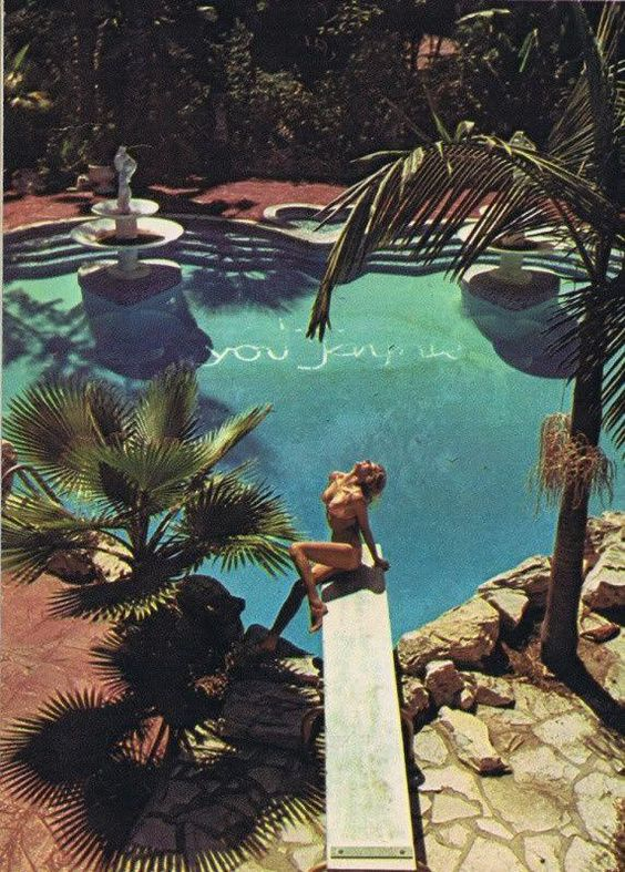 Jane Mansfield's Pool by Chris Von Wangenheim for Oui Magazine (January 1974) #poolparty