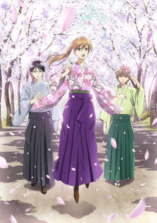 Chihayafuru. This anime.... is simply so beautiful and amazing. Chihaya, who didn't have any special traits, didn't know what it meant to have a dream. However, when she starts playing karuta with her friends arata and taichi, she dreams of becoming the Queen, the female top karuta player. (SYL):