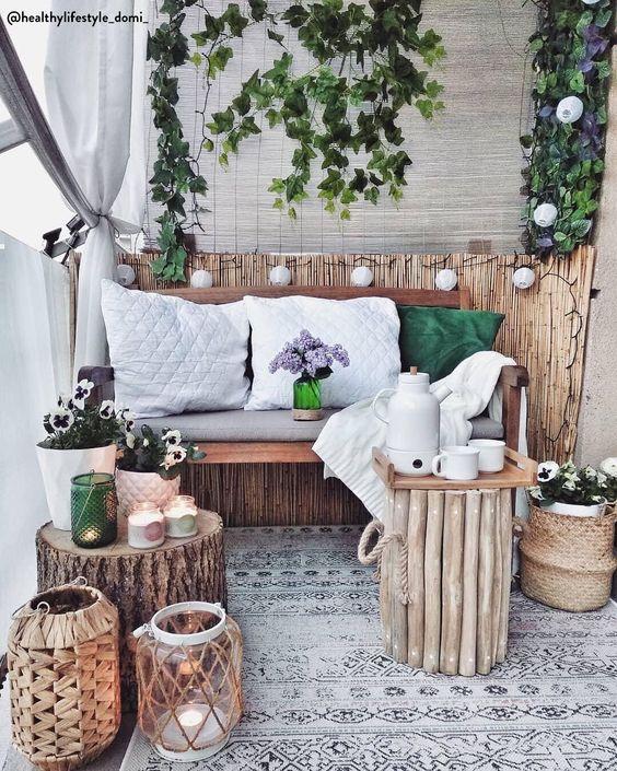 bamboematten als gezellige sfeermaker tegen de muur