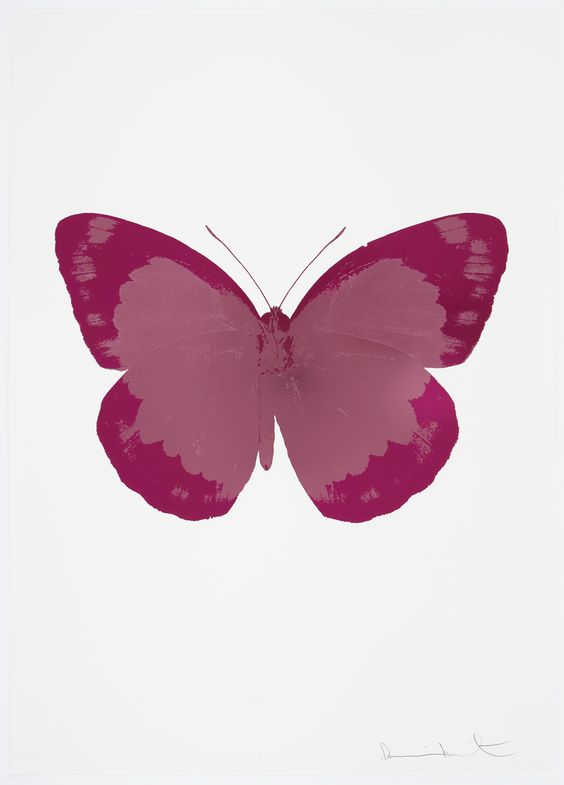 Damien Hirst The Soul II - Loganberry Pink, Fuchsia Pink, Blind Impression…