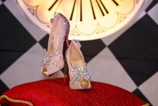 Louboutin's Cinderella slipper - if it were socially acceptable, I'd remarry my husband JUST to wear these!