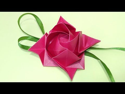 Full Bloom Origami Kawasaki Rose | Origami and math, Origami ... | 360x480