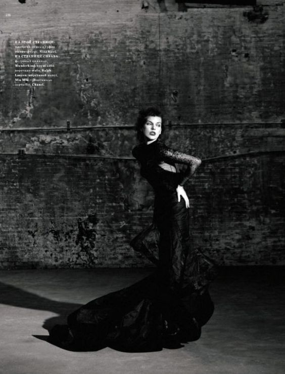Milla Jovovich by Igor Vishnyakov for Harper's Bazaar Russia