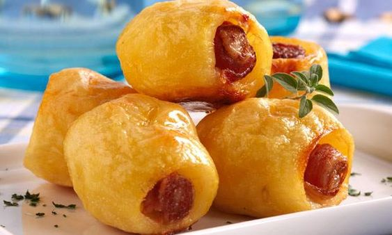 Batata assada com bacon: