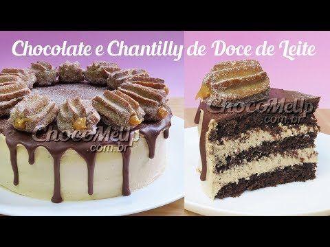 Receita De Bolo De Chocolate Recheado Com Chantilly De Doce De