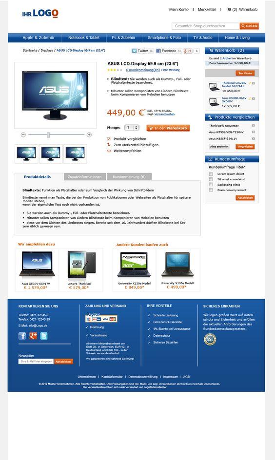 Produktseite TLC Magento Onlineshop Basic.  Mehr unter: http://www.tlc-communications.de/produkte/e-commerce/onlineshop-basic.html