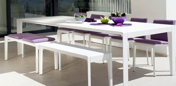 Mirthe grand outdoor dining table by Tribu Storyboard - Sharpe