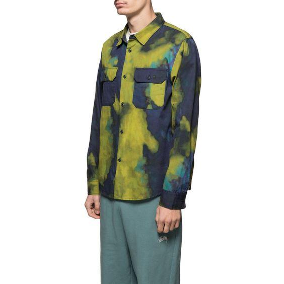 Dark Dye Work Shirt In 2020 Long Sleeve Shirt Men Work Shirts Shirts