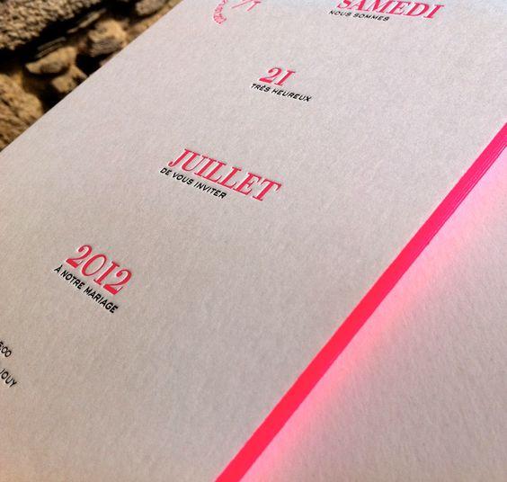 débossage 2 couleurs R° + couleur sur tranches sur papier 500g