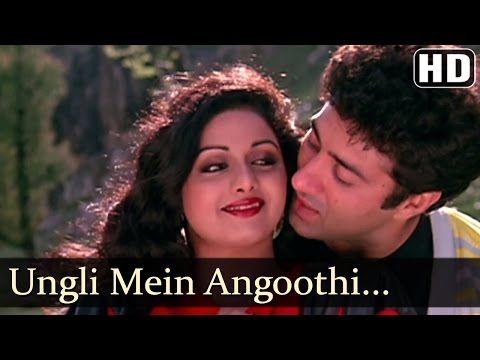 Oongli Mein Angoothi Angoothi Mein Nagina Sridevi Anil Kapoor Ram Avataar Laxmikant Pyarelal Youtube In 2020 Songs Bollywood Songs Music Director