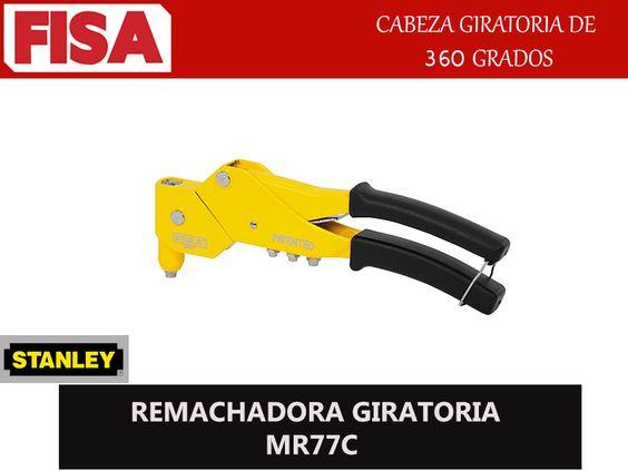 REMACHADORA GIRATORIA MR77C. Cabeza giratoria de 360 grados- FERRETERIA INDUSTRIAL -FISA S.A.S Carrera 25 # 17 - 64 Teléfono: 201 05 55 www.fisa.com.co/ Twitter:@FISA_Colombia Facebook: Ferreteria Industrial FISA Colombia