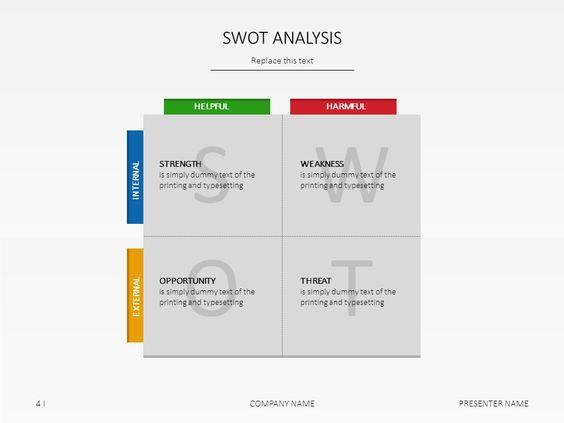PowerPoint slide templates - SWOT Analysis Blue Jasmine - sample swot analysis