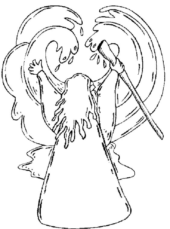 Coloring pages for moses parting the red sea coloring for Moses parting the red sea coloring page