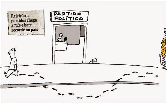Nani Humor: REJEIÇÃO A PARTIDOS POLÍTICOS
