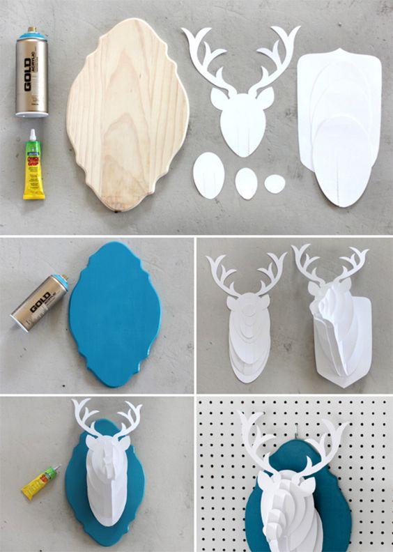 DIY/Passo a passo: faça uma cabeça de alce em papel para decoração;: