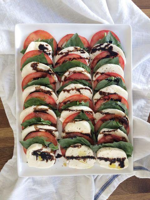 Just A Darling Life: Caprese Salad with Balsamic Glaze