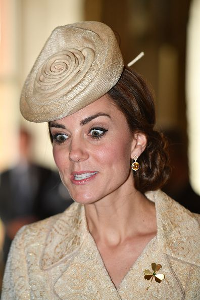 Catherine, Duchess of Cambridge attends the Secretary of State's annual Garden party at Hillsborough Castle on June 14, 2016 in Belfast, Northern Ireland.: