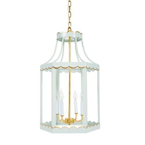 Alys Wythe Pale Blue Scalloped Lantern Pendant Lady Builder Shops Lantern Pendant White Lanterns Gold Lanterns