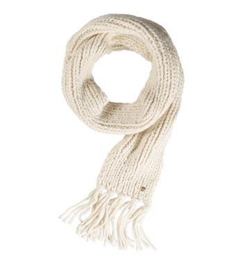 Opus heerlijk zachte, grof gebreide sjaal met franjes, model Anike Scarf boa - Off white - NummerZestien.eu