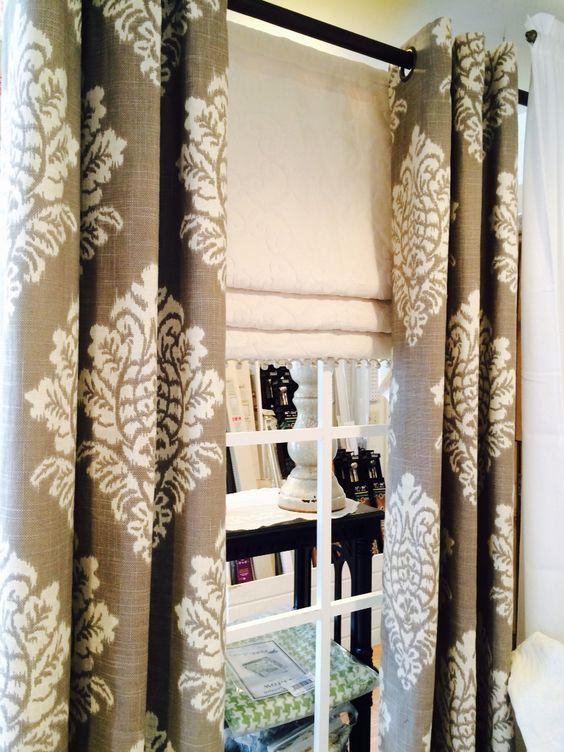 Mock Roman Shade Under Grommet panels Not Just Curtains Salem NH ...