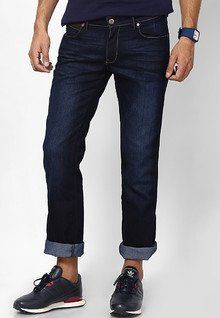 Stylish, Latest Fasionable & Well Designed Wrangler Dark Blue Regular Fit Jeans men features product specifications, reviews, ratings, images, price chart and more to assist the user