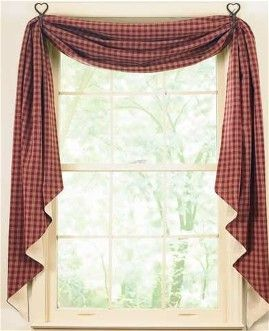 Swag Curtains And Country Shower Curtains On Pinterest