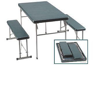 Folding Table & Bench Set