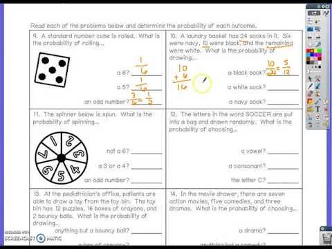 8 2 Simple Probability Complements Simple Probability Probability 7th Grade Math Simple probability worksheet 7th grade
