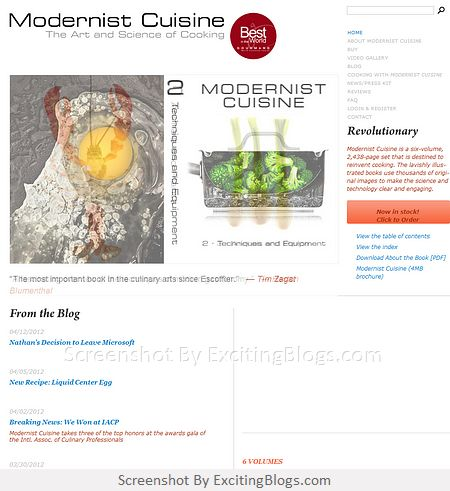 Modernist Cuisine: The Art and Science of Cooking - Click to visit site:  http://1.33x.us/xnpoiN